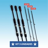 Kit com 3 Varas BT Easy Casting Molinete