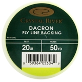 Linha Fly Backing Dracon Crystal River - Cor Laranja